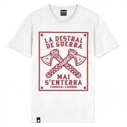 Camiseta Flama La destral de guerra color blanco